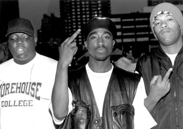 Tupac with Biggie and Redman