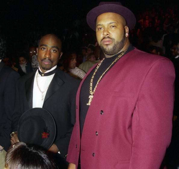 Tupac with Suge Knight
