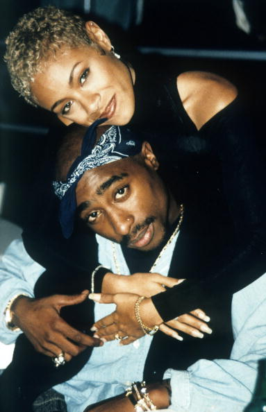 Tupac with Jada Pinkett