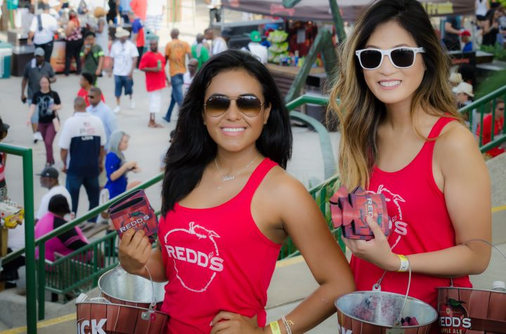 Cooled down with some of Redd's Apple Ale at Boom Bash 2