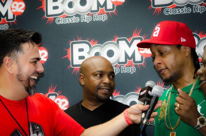 Boom 92's Jay Rio interviewing DJ Quik backstage