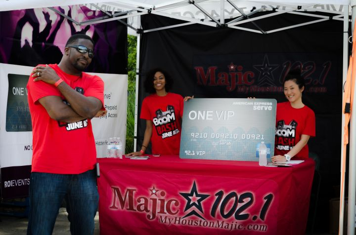 Majic 102.1 at the One VIP Card tent