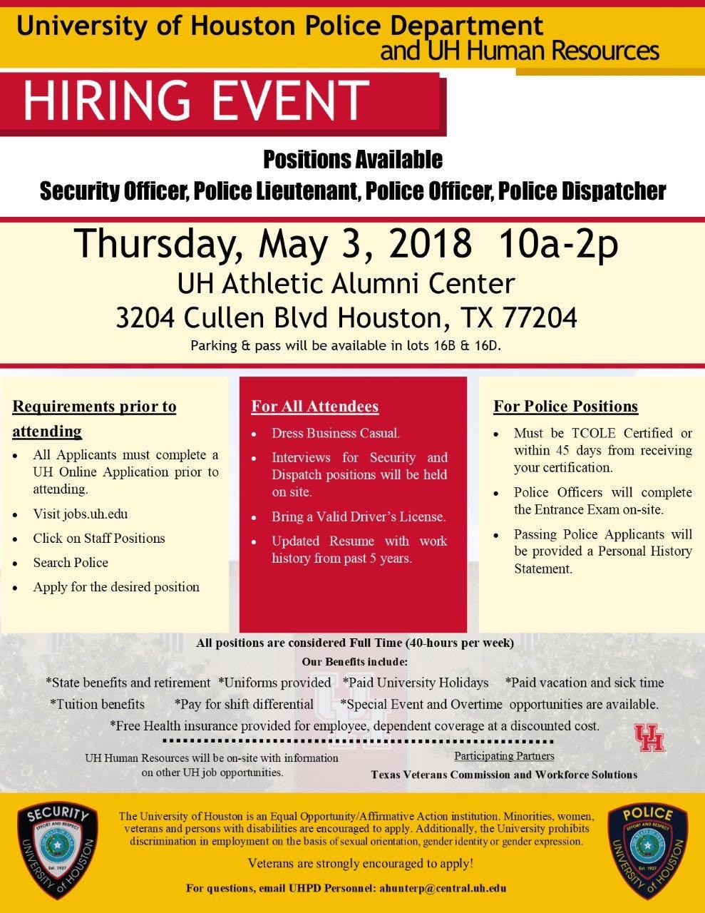 University of Houston Hiring Event