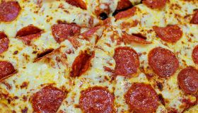 Close up of pepperoni pizza