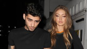 Zayn Malik and Gigi Hadid leaving the Versace Versus show