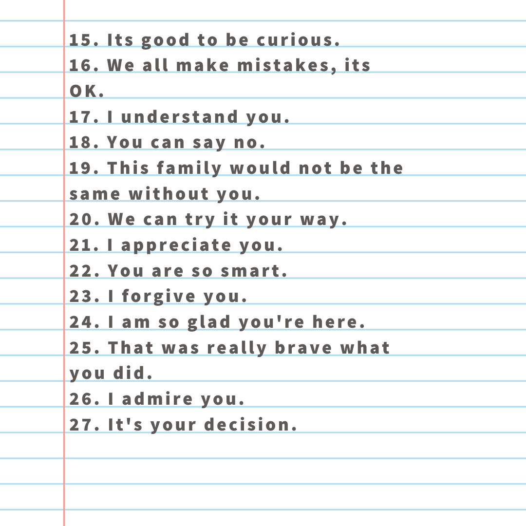 55 Successful Things To Say To Your Child