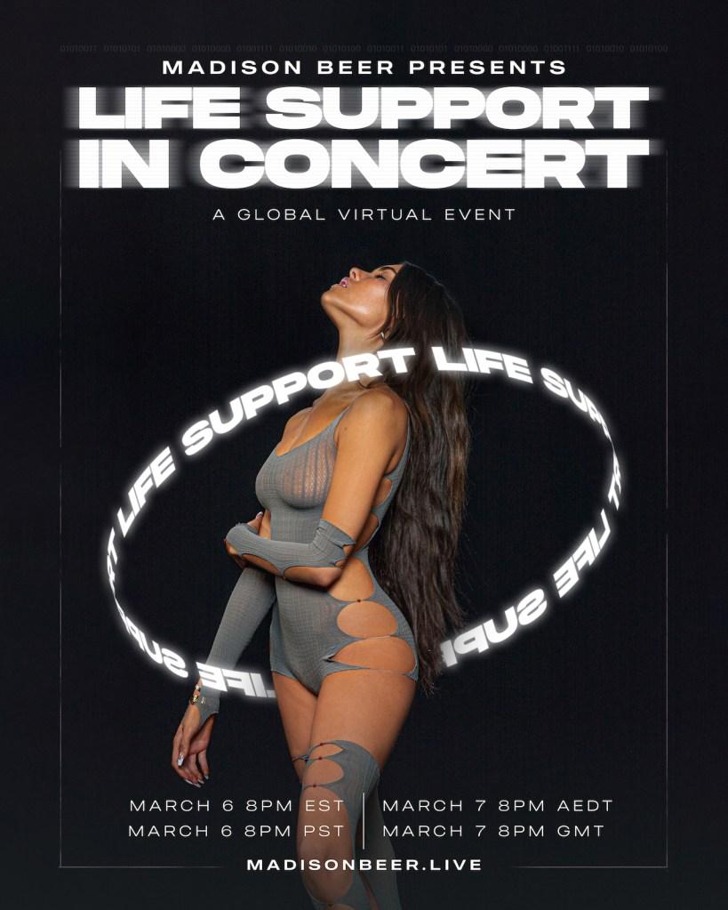 Madison Beer Life Support Concert Flyer