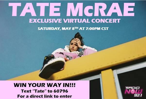 Tate McRae Virtual Concert
